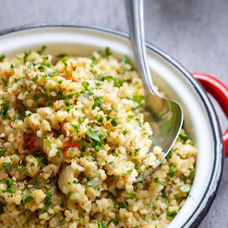 Garlic Butter Bulgur Risotto.