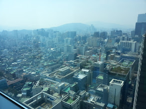 Photo: View from the Google office in Seoul. This is where we had lunch.