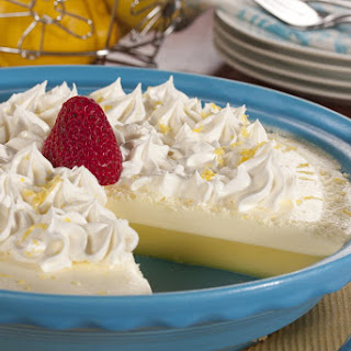 Crustless Lemon Cream Pie.