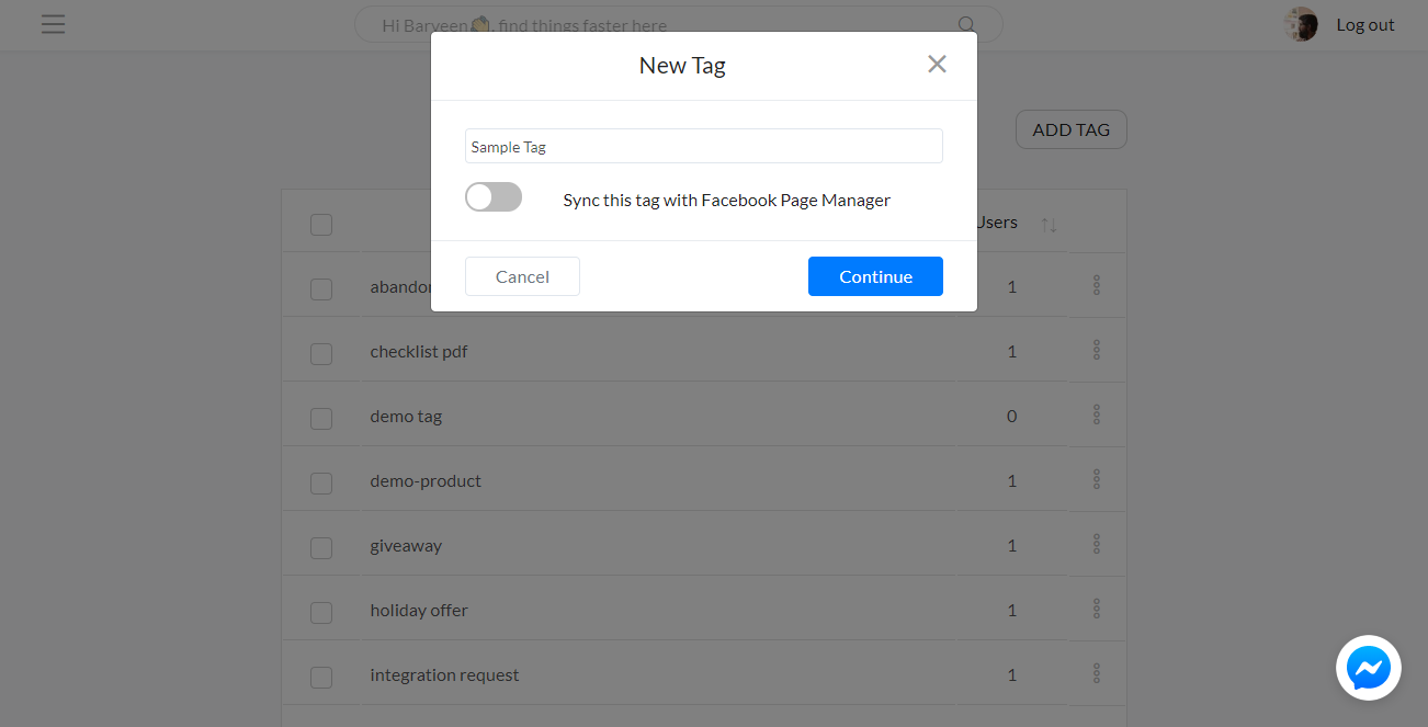Create new tag - SilFer Bots