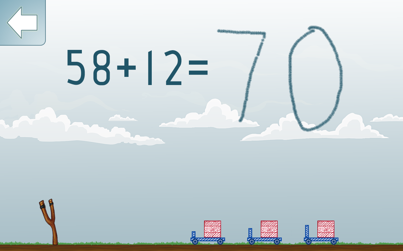 Math Shot Add and Subtract 100- screenshot