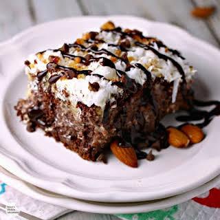 Skinny Almond Joy Poke Cake.