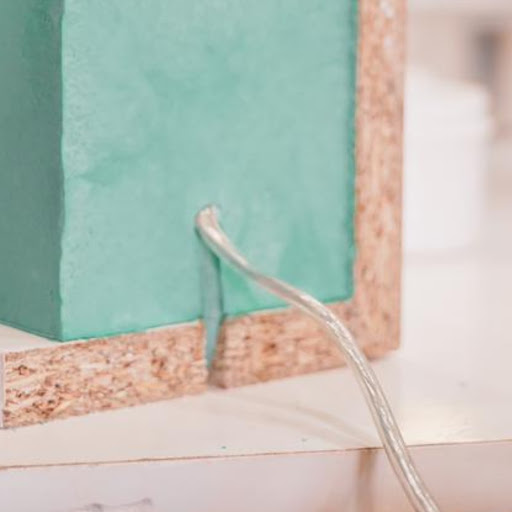 lampe béton made in france avec câble électrique