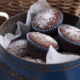 Moist Chocolate Berry Cupcakes.