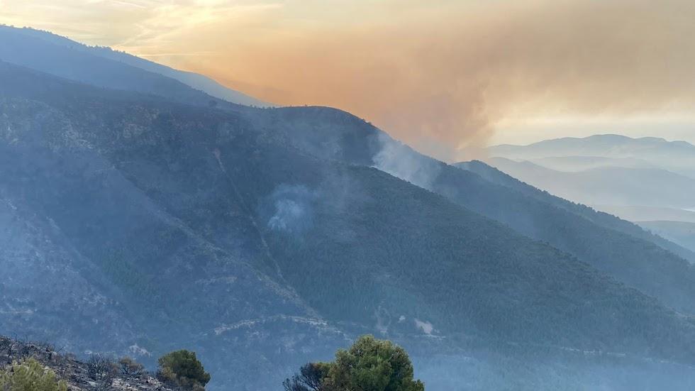 El incendio esta mañana del sábado.