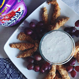 Chicken Tenders with Grape Dipping Sauce.