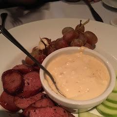 Cheese fondue appetizer