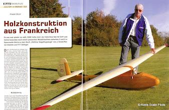 """Photo: 1:3  Avia 40 P  Friedel Borst  Germany  Mit freundlicher Genehmigung des Neckar Verlages. """"Modell"""" . Natürlich mit einem stilechten """"Piloten"""" von Axel"""