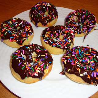 Baked Cake Donuts with Chocolate Glaze.