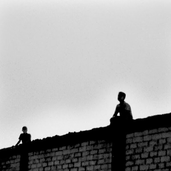 Photo: Day 113 +G+ 365 Project : 22 April 2012 Boys flying kites from a wall, Cairo  the B&W #365weeklytheme #365project #cairo #egypt