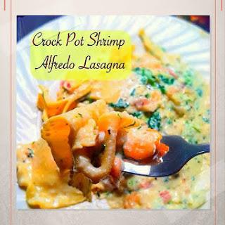 Crock Pot Shrimp Alfredo Lasagna