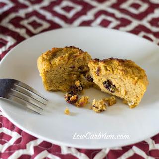 Coconut Flour Cranberry Pumpkin Muffins