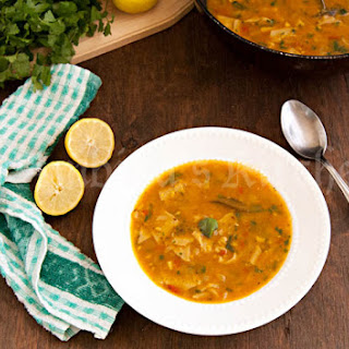 Dal Dhokli (Lentil soup with homemade wholewheat pasta)