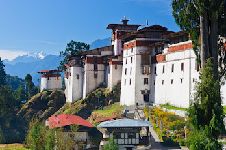 Photo: I thought I'd try a new theme today, namely #FortressesFriday curated by +Benjamin Dahlhoff.  This is a photo of Trongsa Dzong in Bhutan. This is the largest dzong fortress in Bhutan; you can get some idea of the scale by looking at the people walking along the path in front of the dzong.  Trongsa Dzong was build in 1647 on the site of an old temple and was used by the governors of central and eastern Bhutan for centuries. It is also a major monastery with approximately 200 monks in residence.