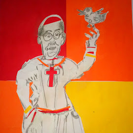 Papà Francesco by Adrian Chiriac - Painting All Painting
