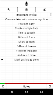 Notepad with voice recognition - náhled