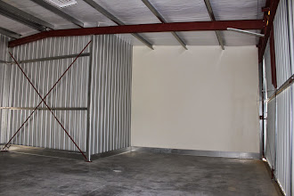 Photo: The end walls look like sheetrock... And they look big... definitely more than 40'