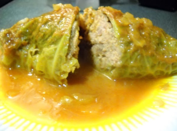 Stuffed Cabbage Rolls W/ Creamy Tomato Sauce Recipe
