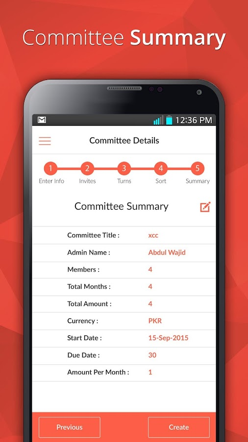 E-Committee- screenshot