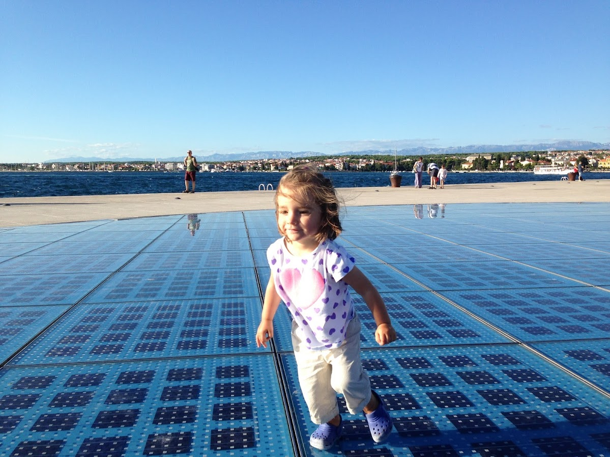 Running around Zadar Sun Salutation