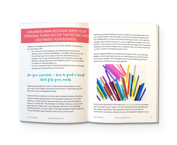 Free e book opt in paper spark build a strong financial foundation and create a profitable creative business get started with our free ebook take control of your bookkeeping now fandeluxe Choice Image