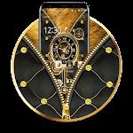 Luxury Gold Clock Zipper Theme Icon