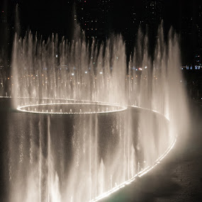 Dancing Fountain  by Yasser Abusen - City,  Street & Park  Fountains ( dubai, fountain )