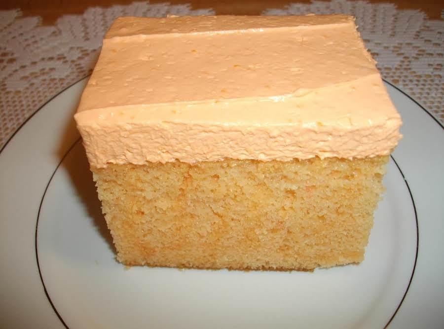 Orange Creamsicle Cake With Cream Cheese Tangerine