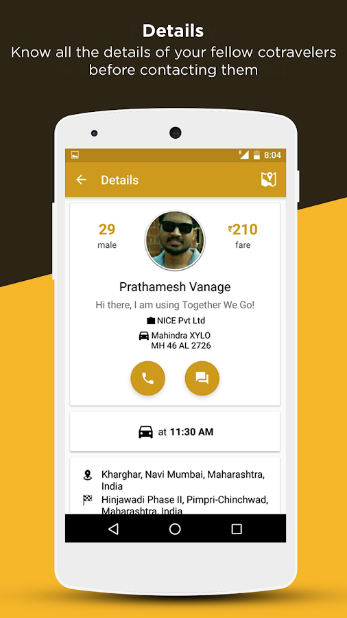 ToGo Carpool (carpooling)- screenshot
