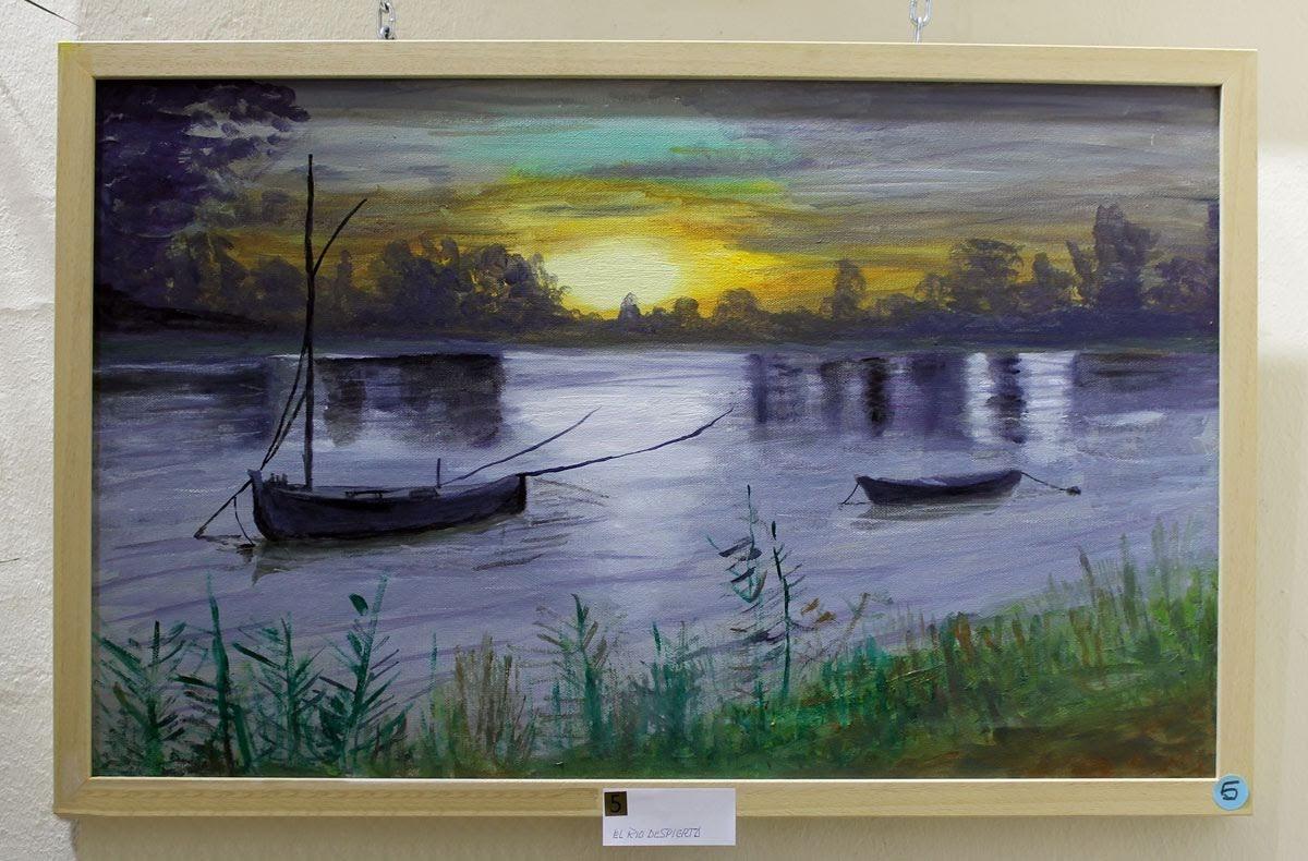 1er Premio de pintura: 'El río despierta' de D. José Francisco Mesa Orta