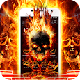 Cool Flame Skulls Theme Fire On Your Phone apk