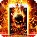 Cool Flame Skulls Theme Fire On Your Phone icon
