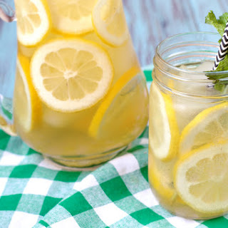 Sparkling Lemon Iced Green Tea