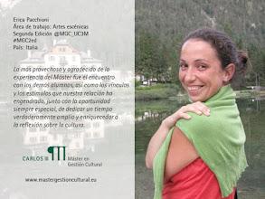 Photo: Erica Pacchioni, alumna de la segunda edición del Máster (2004/2005).