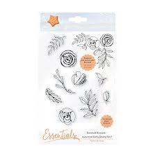 Tonic Studios Essentials Bunched Bouquet - Autumnal Sprig Stamp Set 1 1363E