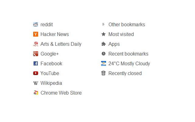 Fast new tab