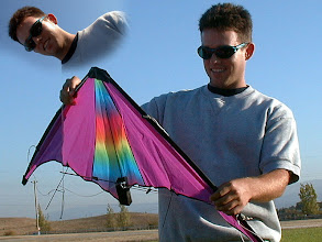 Photo: Here is our son Britt with one of our first kites.