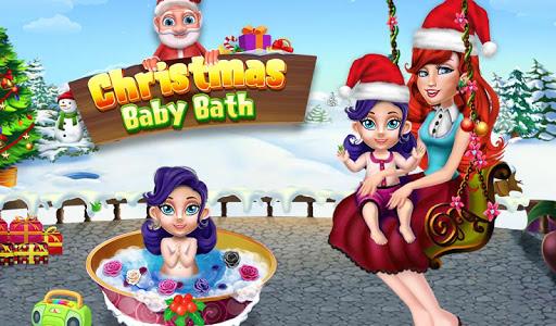 Christmas Baby Bath