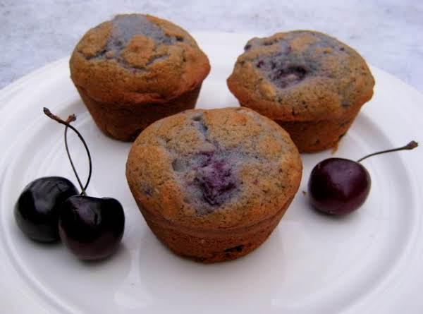 Fresh Cherry Pecan Muffins