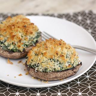 Portabello Mushrooms with Creamy Spinach-Artichoke Filling