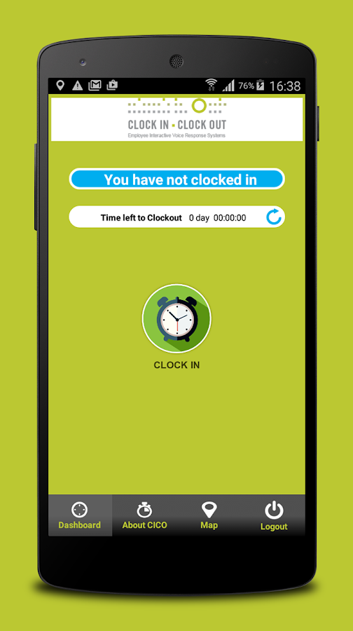 CLOCK IN CLOCK OUT- screenshot