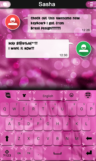 Pink Velvet Keyboard Theme