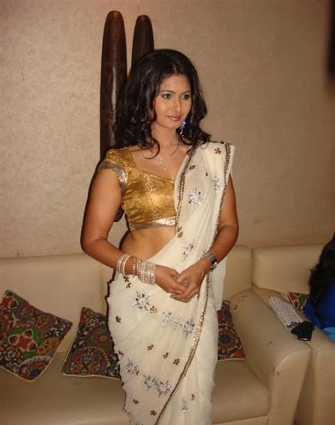 Divyaa Dwivedi in white saree and golden blouse