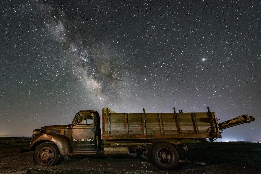 Ol' Dodge by Jim Talbert - Transportation Automobiles ( scott county, sky, canon 5d mkiv, scott city, milky way, nature, astrophotography )