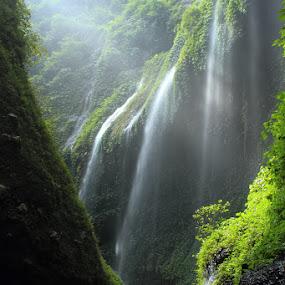 Waterfall by Caraka Pamungkas - Landscapes Travel
