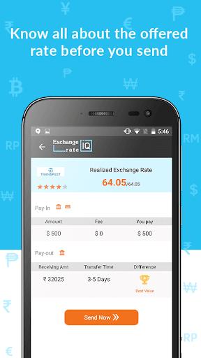 Exchange Rate IQ -Comparar transferencia de dinero screenshot 4