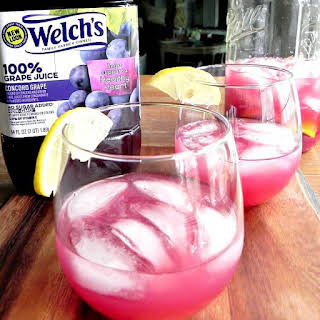 Grape Lemonade Sweetened with Honey.