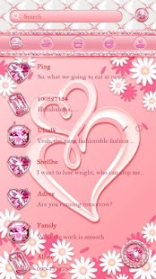 (FREE) GO SMS PINK LOVE THEME - náhled