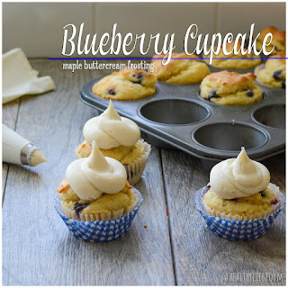 Blueberry Cupcakes with Maple Buttercream