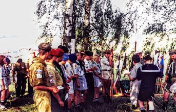 Photo: Druhna Basia nadaje Honorową Odznakę Instruktorską Tukanowi i Panterze